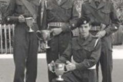 09 961. Simms (CSM) Campbell (RSM)Buckland (kneeling)